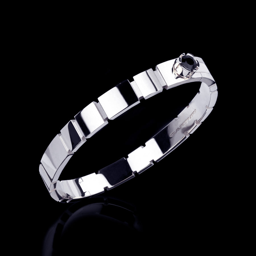 Eternal plain bangle set in 18ct white gold by Stefano Canturi