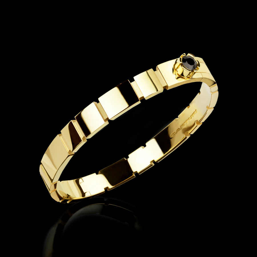 Eternal plain bangle set in 18ct yellow gold by Stefano Canturi
