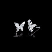 Odyssey diamond Butterfly earrings in 18ct white gold by Stefano Canturi