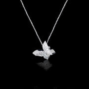 Odyssey diamond medium Butterfly pendant necklace set in 18ct white gold by Stefano Canturi