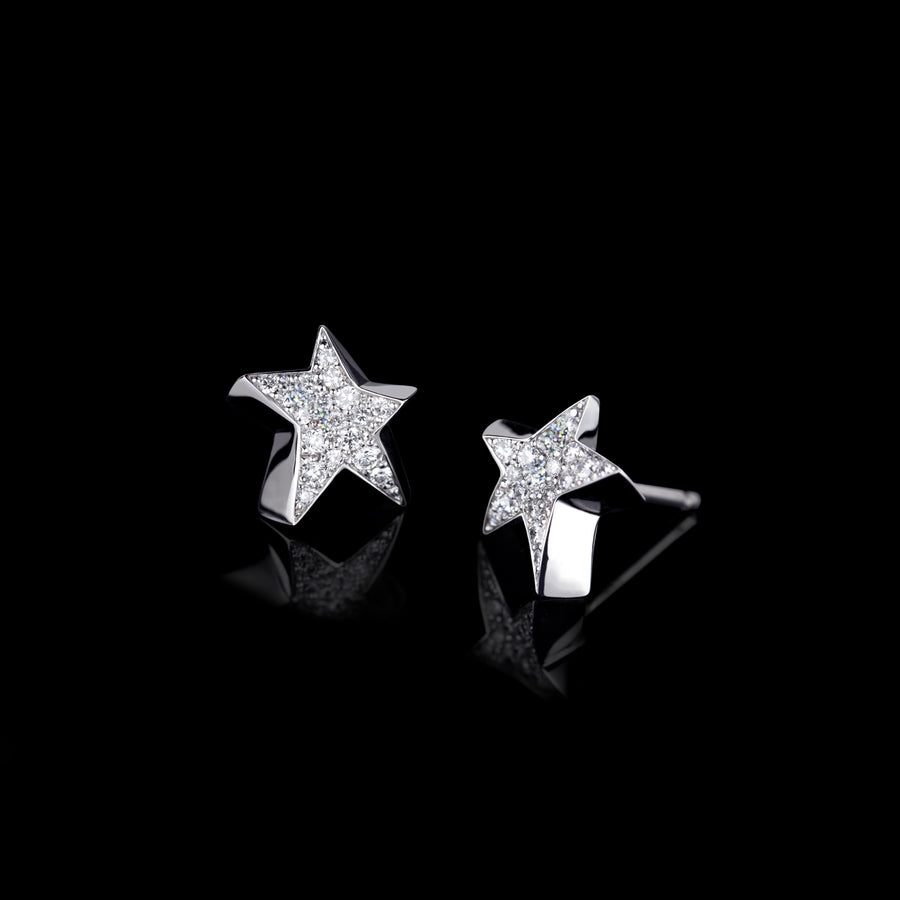 Odyssey diamond Star earrings in 18ct white gold by Stefano Canturi