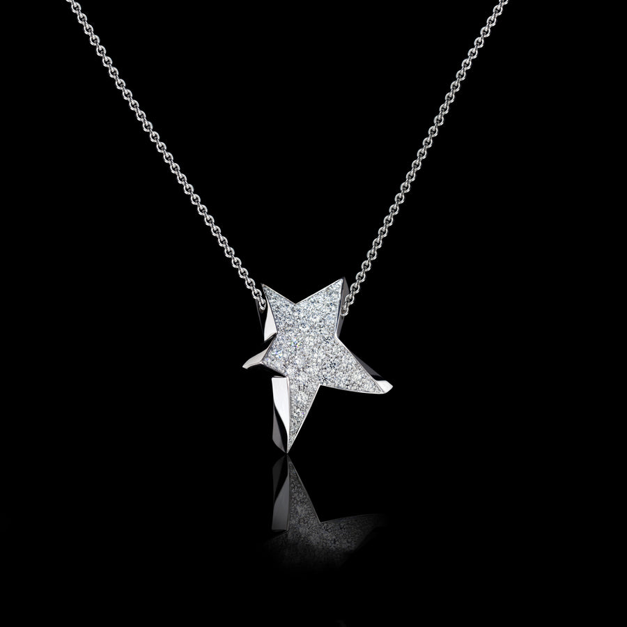 Odyssey diamond Large Star pendant necklace set in 18ct white gold by Stefano Canturi