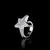 Odyssey diamond Star ring in 18ct white gold by Stefano Canturi