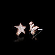 Odyssey diamond Star and Butterfly earrings in 18ct pink gold by Stefano Canturi