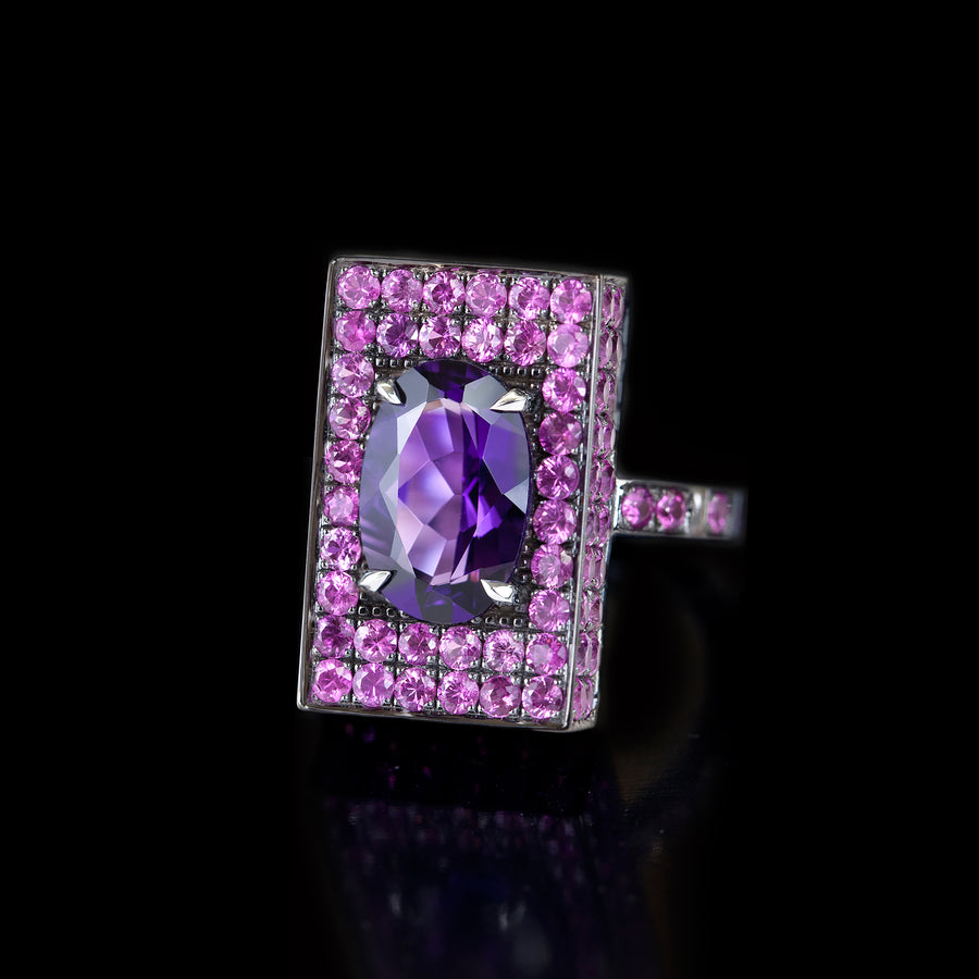 Captivo amethyst and pink sapphire ring by Stefano Canturi