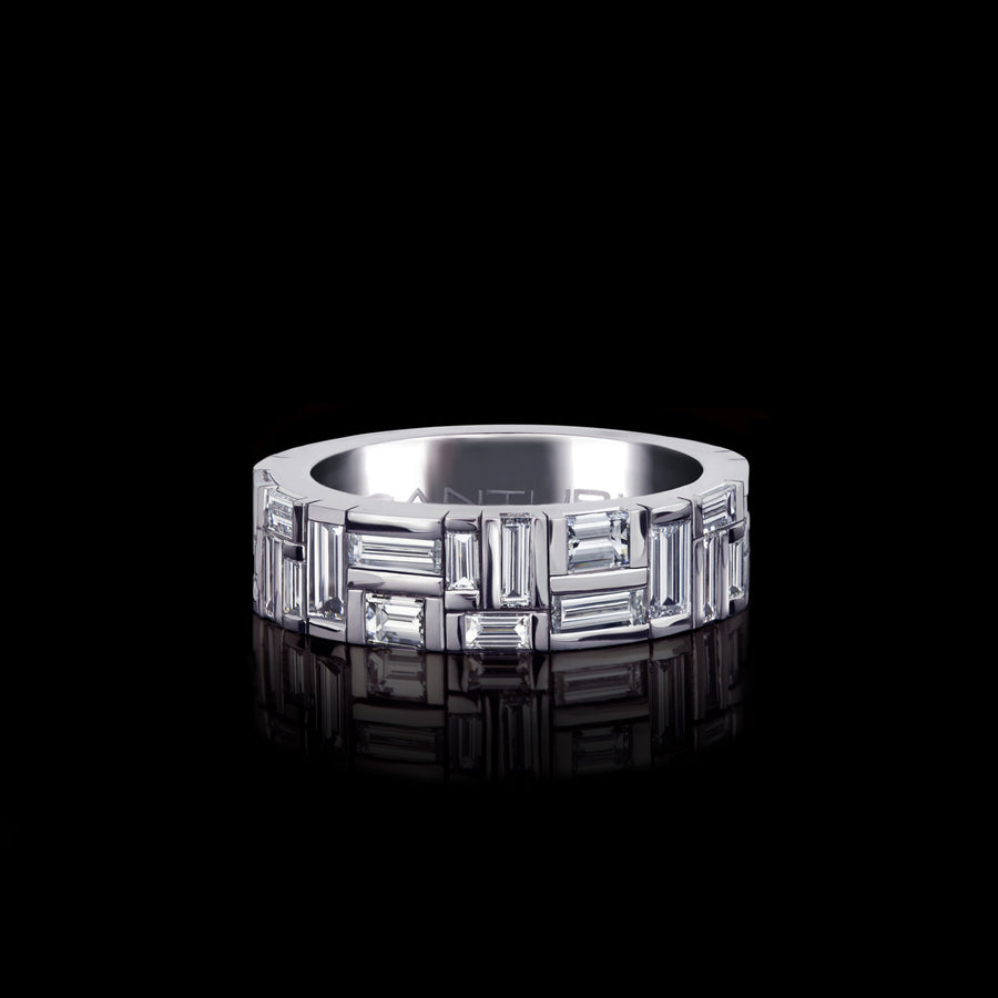 Cubism Medium Diamond Ring set in 18ct White Gold by Stefano Canturi