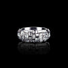 Cubism domed diamond ring in 18ct white gold by Stefano Canturi