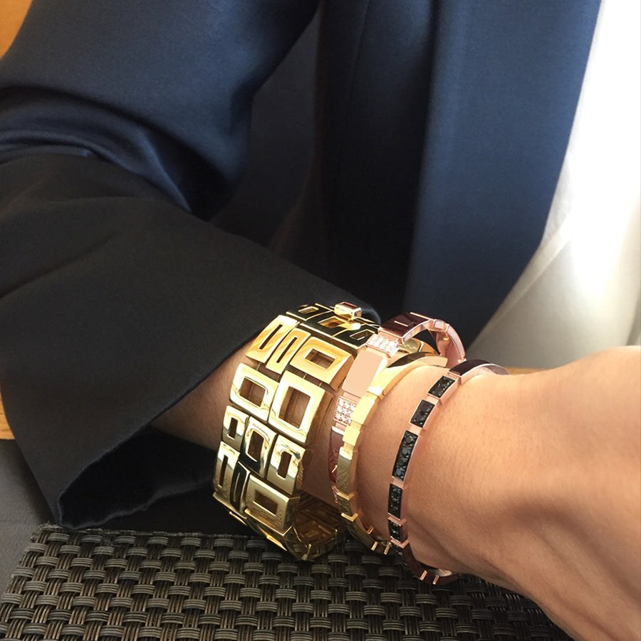Etermal bangles and Geometric cuff by Stefano Canturi