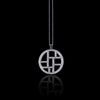 Metropolis diamond woven necklace in 18ct white gold by Stefano Canturi