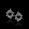 Stella Stud Earrings featuring Diamonds and Australian Black Sapphires in 18ct white gold by Stefano Canturi