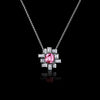 Stella diamond and pink sapphire necklace in 18ct white gold by Stefano Canturi