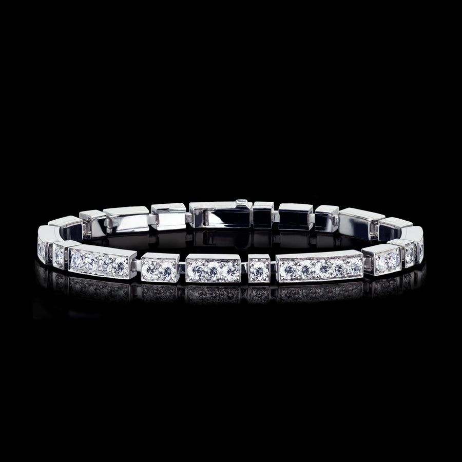 Regina Diamond Bracelet set in 18ct White Gold by Stefano Canturi