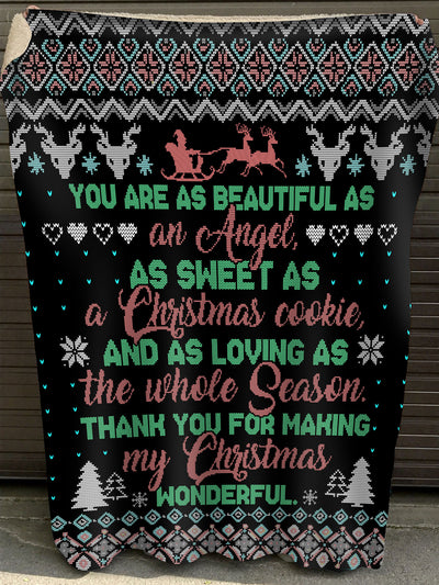 Thank You For Making My Christmas Wonderful Blanket (HLA)