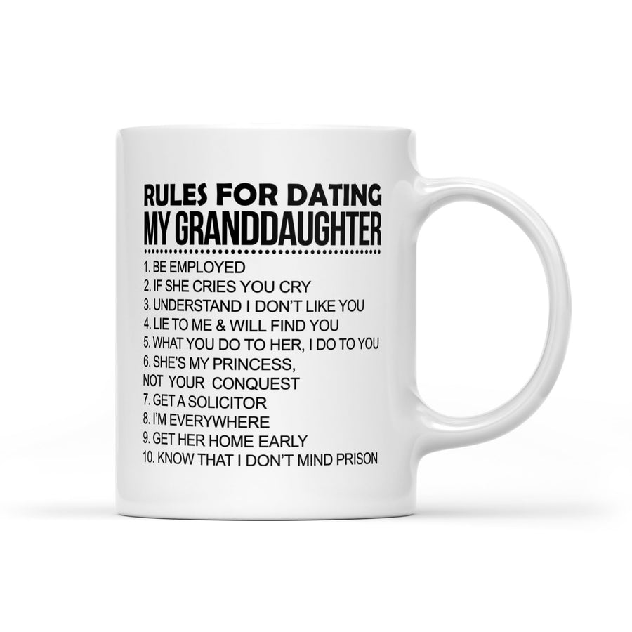 Rules For Dating My Daughter Funny Great Gift Mug