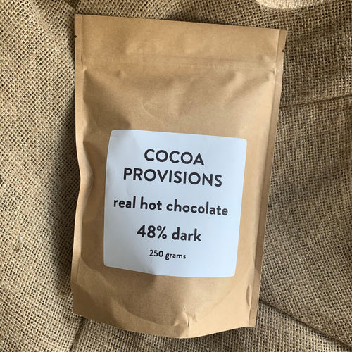 Cocoa Provisions 48% Dark Hot Chocolate 250g - Grain and Grind