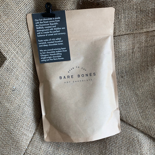 Bare Bones 68% Dominican Republic Salted Hot Chocolate 250g - Grain and Grind