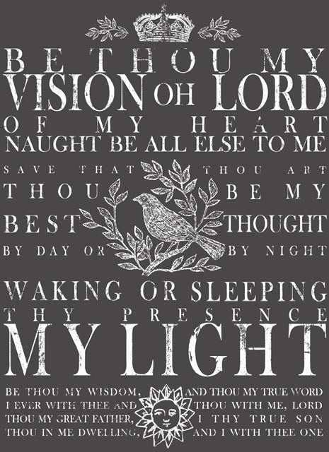Be thou my Vision,  11x14,  DECOR TRANSFER™