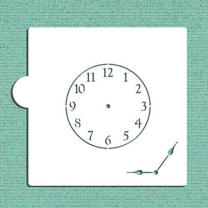 Mini Clock with Hands Cookie and Craft Stencil