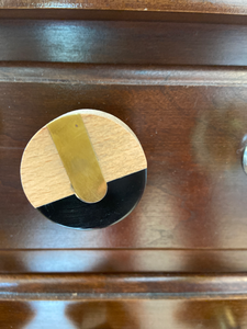 Wooden Black and Gold knob