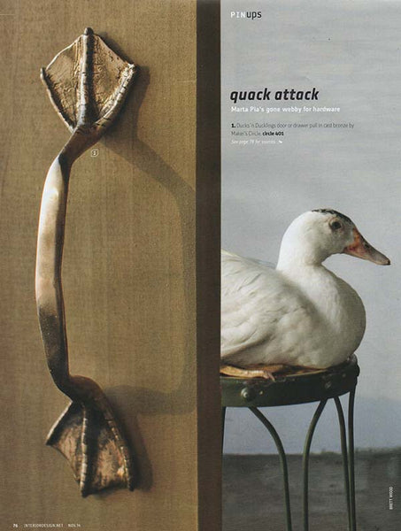 marta pia interior design magazine duck handle
