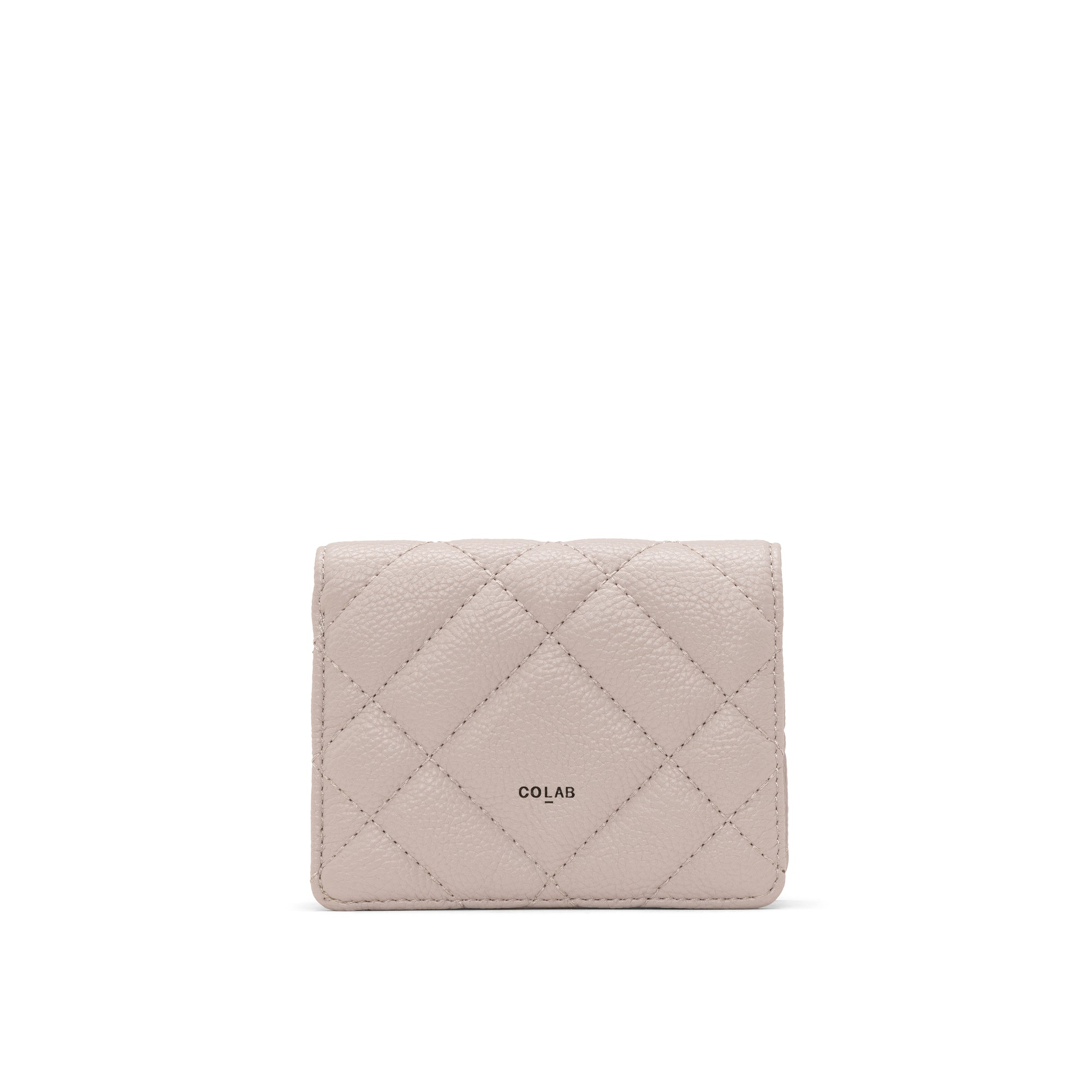 QUILTED WALLET (DOVE)