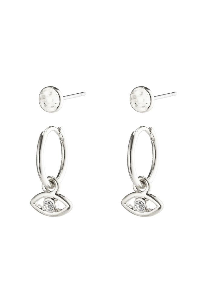 POESY EARRING SET (SILVER)