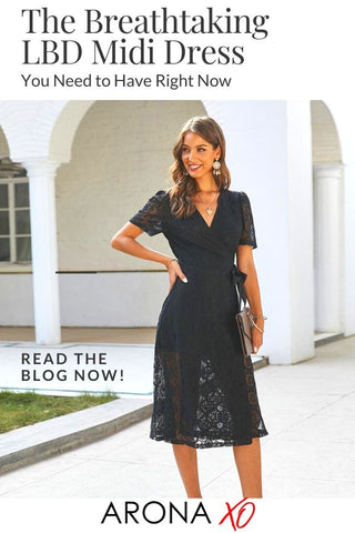 Fashion blog: The Breathtaking LBD Midi Dress You Need to Have Right Now