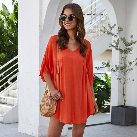 Fashion blog: 8 women's casual spring fashion essentials - woman wearing V Neck Loose Blouse