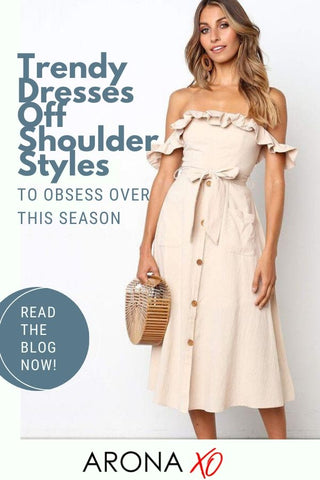 Fashion blog: Trendy dresses off shoulder styles to obsess over this season