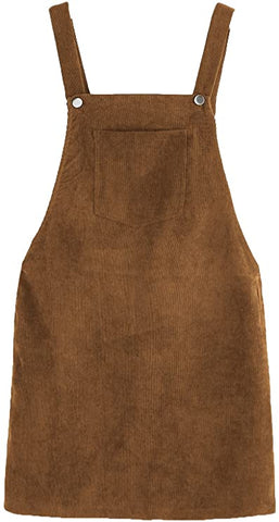brown corduroy dress