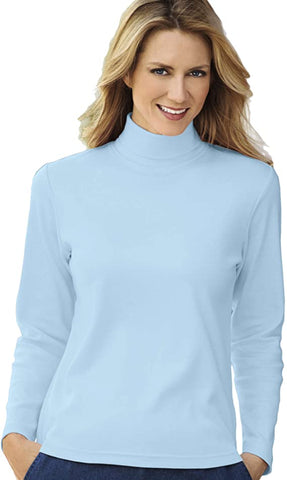 powder blue turtleneck