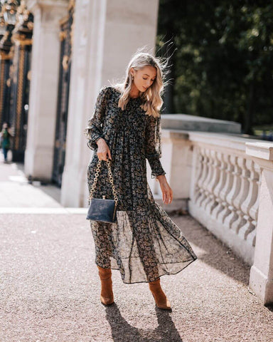 lightweight paisley print dress
