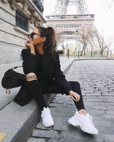 all black and white sneakers