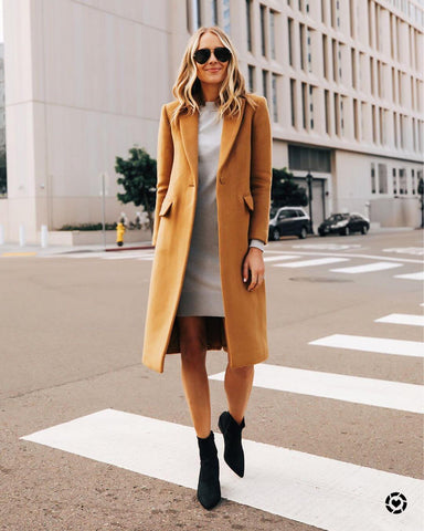 Sweater Dress + Sock Boots