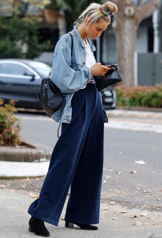 Oversize Denim Jacket + Baggy Jeans + Ankle Boots