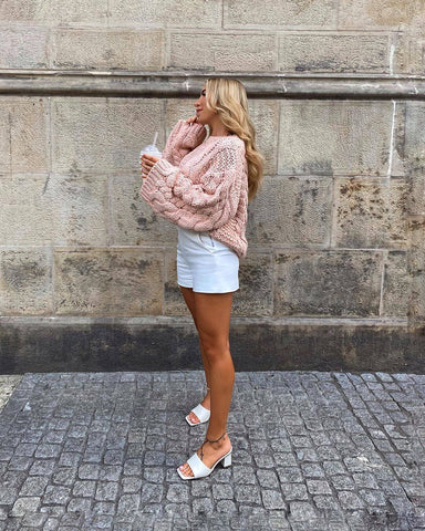 rose pink sweater