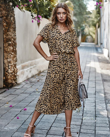 leopard mini dress
