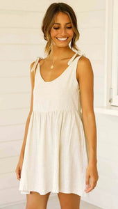Round Collar Mini Slip Dress - Arona XO