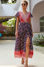 Load image into Gallery viewer, Short Sleeve Maxi Boho Dress - Arona XO
