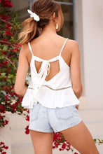 Load image into Gallery viewer, Back Cutout Peplum Top - Arona XO