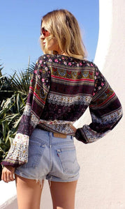 Long Sleeve Boho Blouse - Arona XO