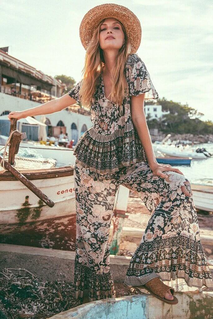 Loose Boho Top & Trousers Set - Arona XO