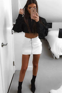 Faux Leather Mini Skirt - Arona XO