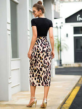 Load image into Gallery viewer, Lace-up Leopard Print Skirt - Arona XO