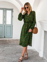 Load image into Gallery viewer, Long Sleeve Leopard Midi Dress - Arona XO