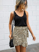 Load image into Gallery viewer, Leopard Print Wrap Mini Skirt - Arona XO