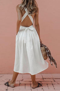 Pinafore Midi Dress - Arona XO