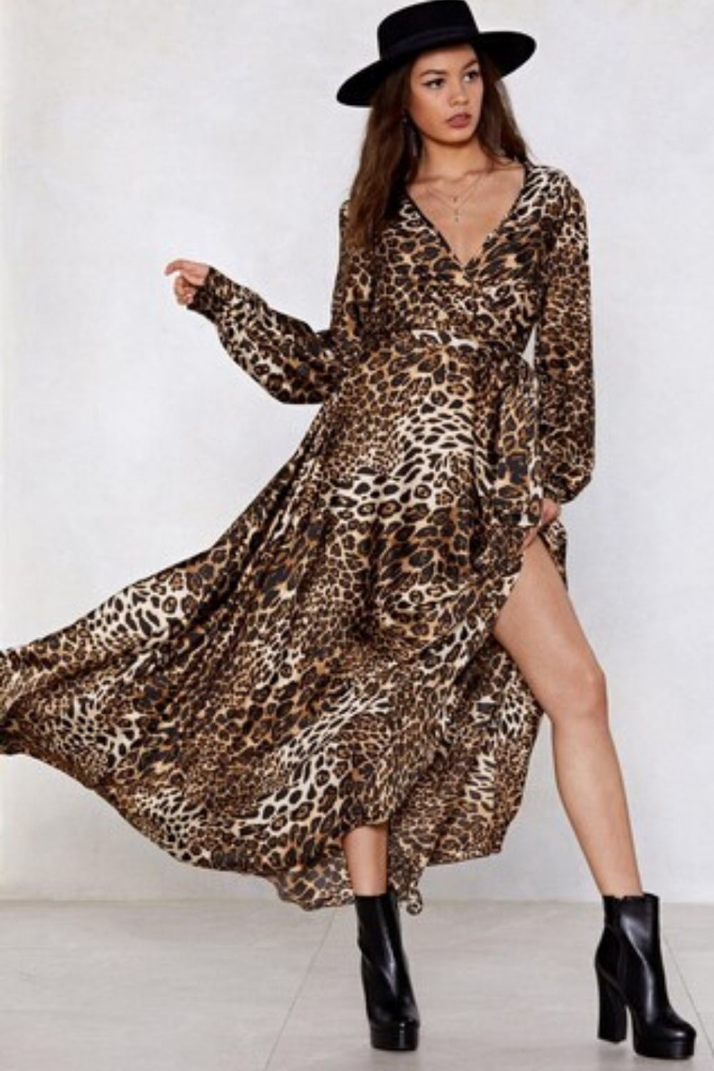 Leopard Print Maxi Dress - Arona XO