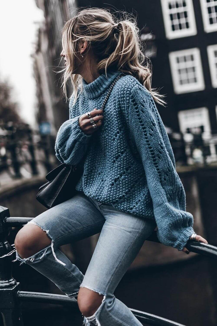 Oversized Chunky Knit Sweater - Arona XO
