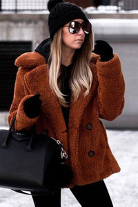 Faux Fur Shearling Coat - Arona XO